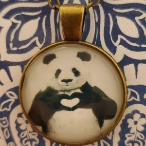 ♡2/$7 or 4/$10♡ Panda Love Necklace